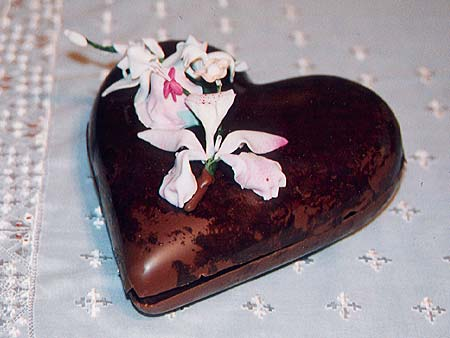Heart Shaped Chocolate Box Containing Chocolate Truffles