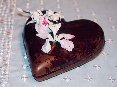 Heart Shaped Chocolate Box Containing Chocolate Truffles