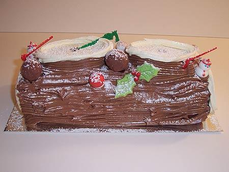 Mocha Christmas Log